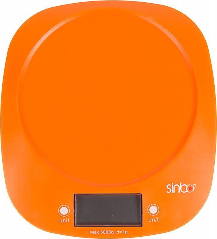 Кухонные весы Sinbo SKS 4522 оранжевый - фото 3