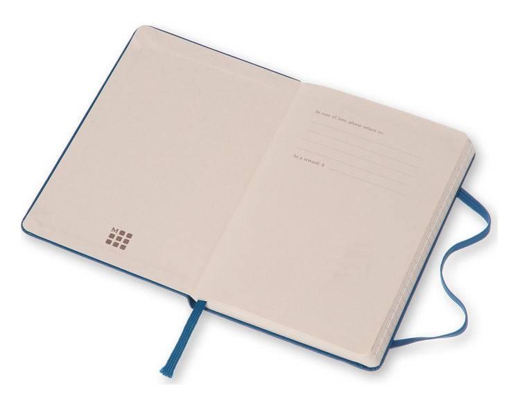 Еженедельник Moleskine CLASSIC WKNT POCKET карманный 144стр. синий стальной - фото 2
