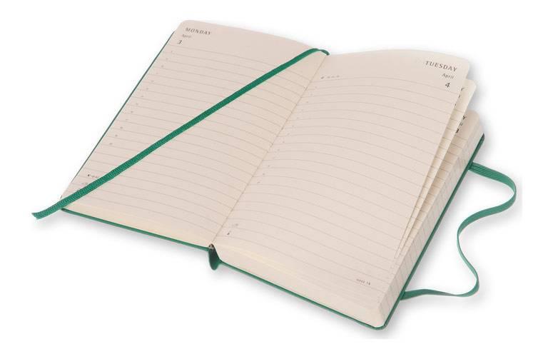 Ежедневник Moleskine CLASSIC DAILY POCKET ,карманный ,400стр. ,зеленый малахит - фото 5