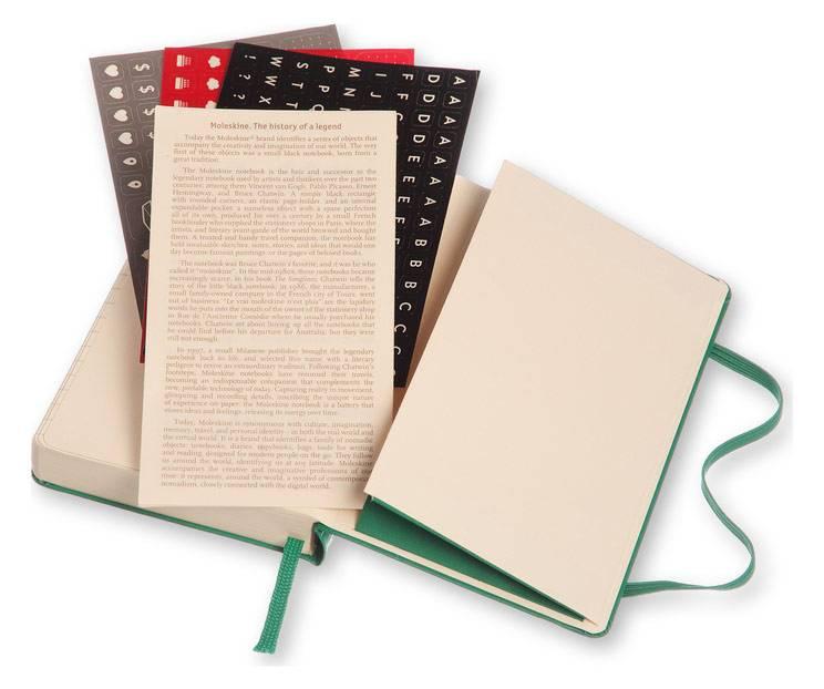 Ежедневник Moleskine CLASSIC DAILY POCKET ,карманный ,400стр. ,зеленый малахит - фото 7