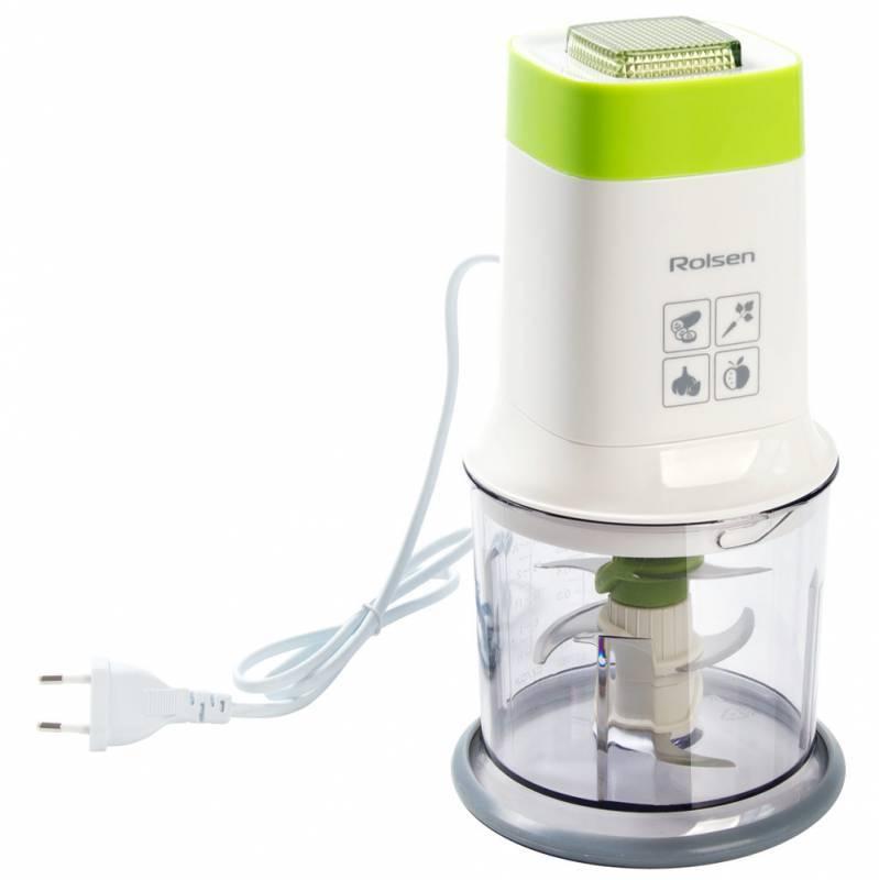 Измельчитель электрический Rolsen RCH-401P белый/зеленый - фото 2