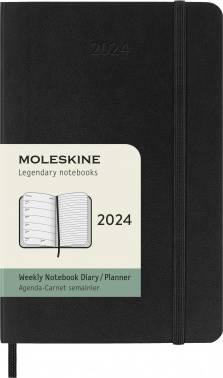 Еженедельник Moleskine Classic Soft WKNT черный (DSB12WN2)