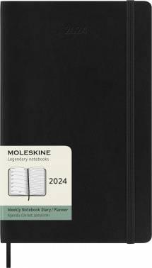 Еженедельник Moleskine Classic Soft WKNT черный (DSB12WN3)