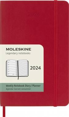 Еженедельник Moleskine CLASSIC SOFT WKNT красный (DSF212WN2)