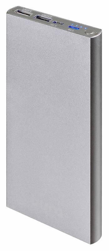 Мобильный аккумулятор BURO RA-12000-AL серебристый - фото 1