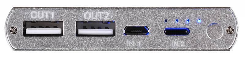 Мобильный аккумулятор BURO RA-12000-AL серебристый - фото 4