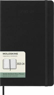 Еженедельник Moleskine Academic WKNT черный (DHB18WN3)