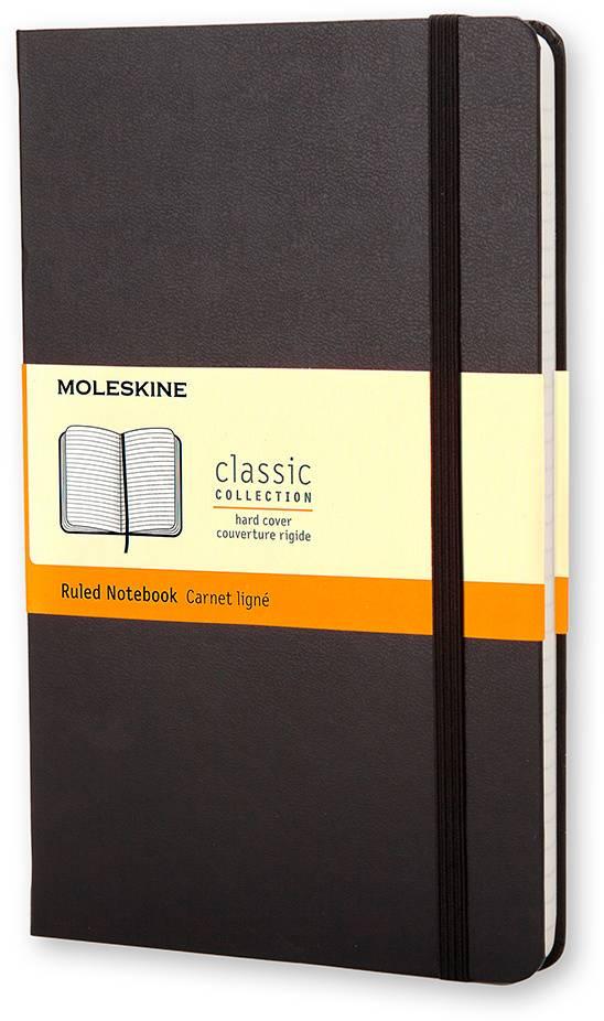 Блокнот Moleskine CLASSIC POCKET 90x140мм 192стр. линейка твердая обложка фиксирующая резинка черный - фото 1