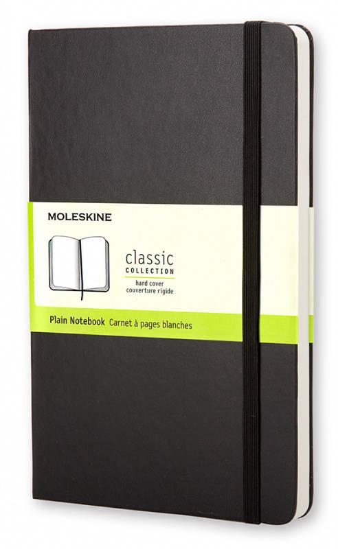 Блокнот Moleskine CLASSIC POCKET 90x140мм 192стр. нелинованный твердая обложка фиксирующая резинка черный - фото 1