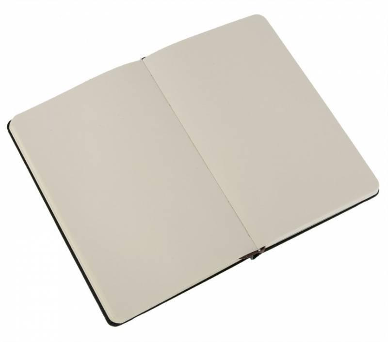 Блокнот Moleskine CLASSIC POCKET 90x140мм 192стр. нелинованный твердая обложка фиксирующая резинка черный - фото 2