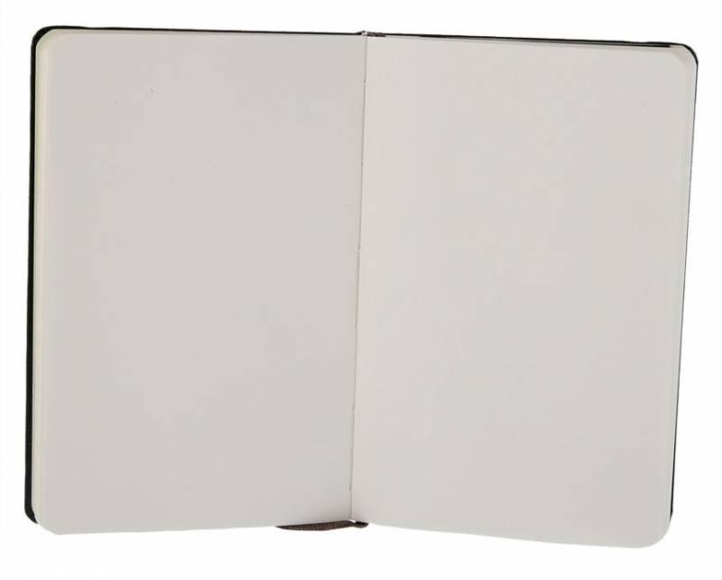 Блокнот Moleskine CLASSIC POCKET 90x140мм 192стр. нелинованный твердая обложка фиксирующая резинка черный - фото 3