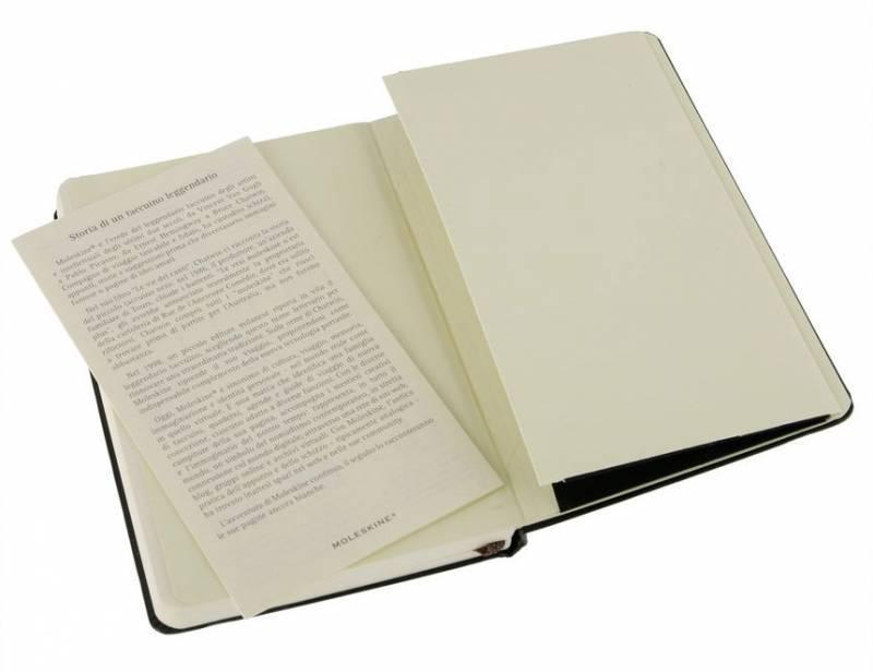 Блокнот Moleskine CLASSIC POCKET 90x140мм 192стр. нелинованный твердая обложка фиксирующая резинка черный - фото 4