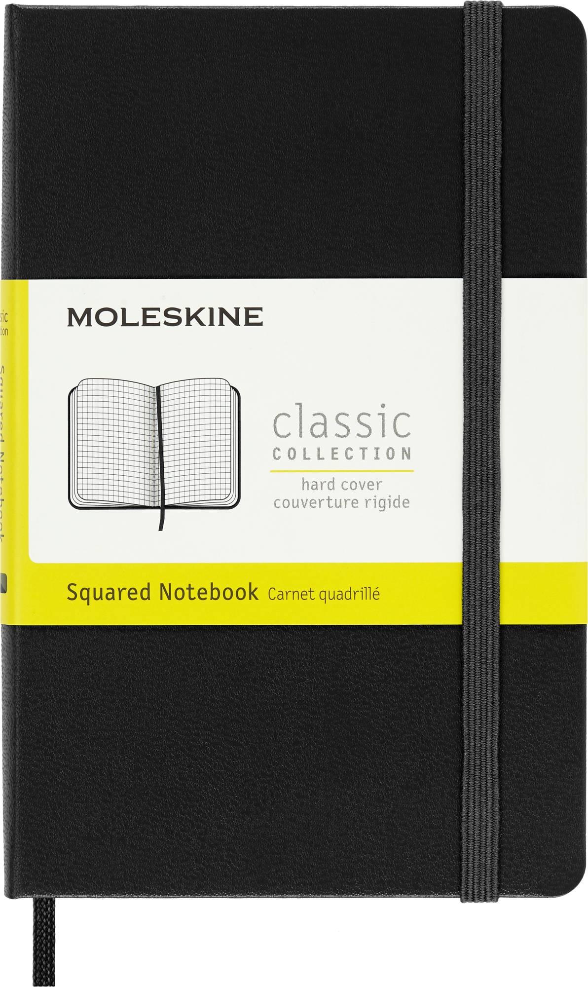 Блокнот Moleskine CLASSIC POCKET 90x140мм 192стр. клетка твердая обложка фиксирующая резинка черный - фото 1