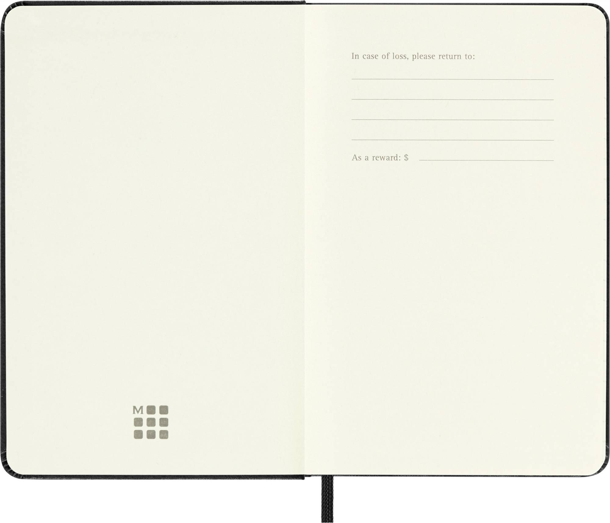 Блокнот Moleskine CLASSIC POCKET 90x140мм 192стр. клетка твердая обложка фиксирующая резинка черный - фото 3