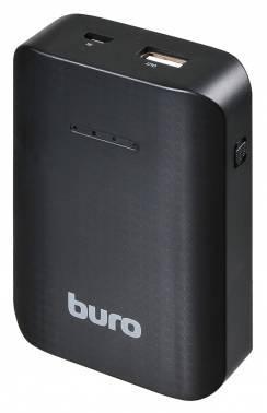 Мобильный аккумулятор Buro RC-7500 черный, емкость батареи 7500mAh Li-Ion, USB разъемов 1, сила тока на выходе 1A