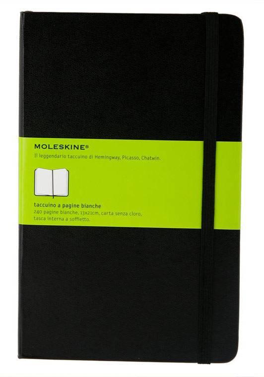 Блокнот Moleskine CLASSIC LARGE 130х210мм 240стр. нелинованный твердая обложка фиксирующая резинка черный - фото 5