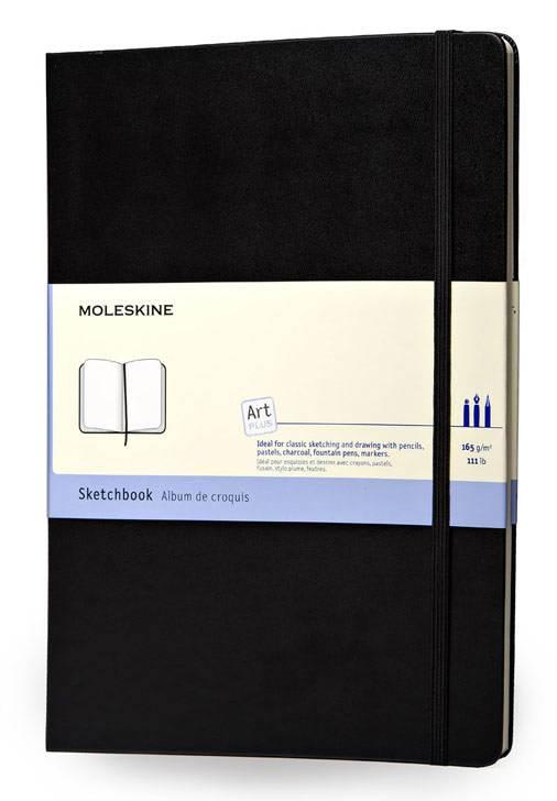 Блокнот Moleskine SKETCHBOOK POCKET 90x140мм 80стр. фиксирующая резинка черный - фото 1