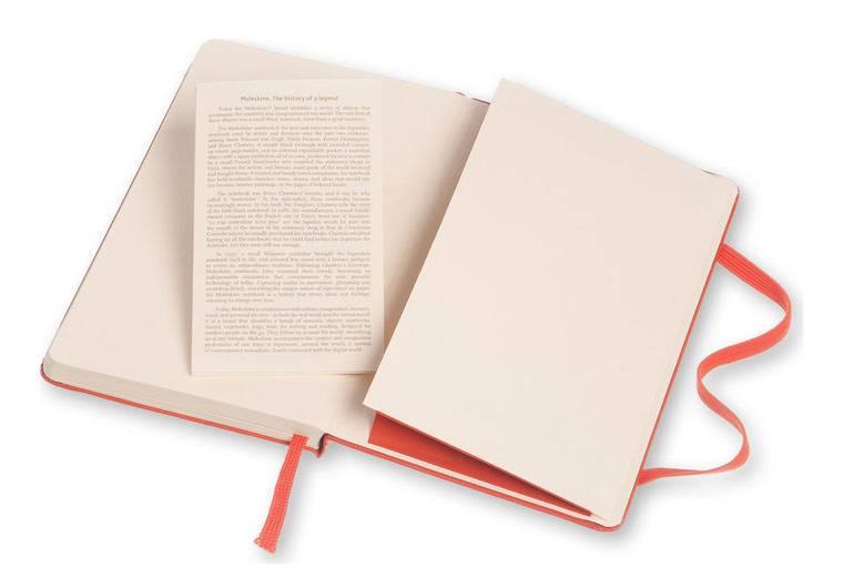 Блокнот Moleskine CLASSIC POCKET 90x140мм 192стр. линейка твердая обложка фиксирующая резинка оранжевый - фото 5