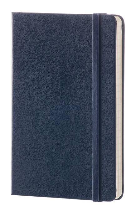 Блокнот Moleskine CLASSIC POCKET 90x140мм 192стр. линейка твердая обложка фиксирующая резинка синий сапфир - фото 2