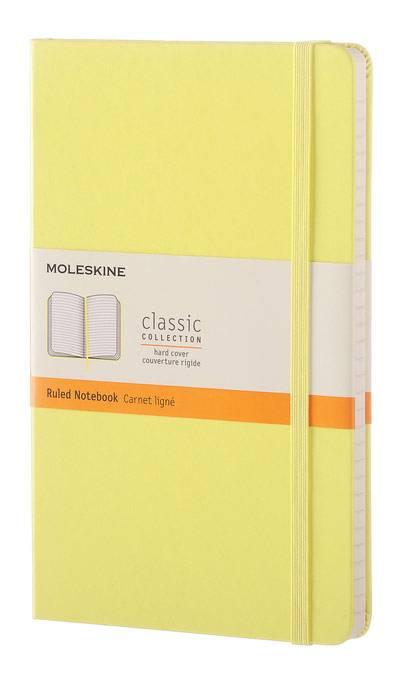 Блокнот Moleskine CLASSIC LARGE 130х210мм 240стр. линейка твердая обложка фиксирующая резинка желтый цитрон - фото 1