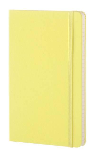 Блокнот Moleskine CLASSIC LARGE 130х210мм 240стр. линейка твердая обложка фиксирующая резинка желтый цитрон - фото 2