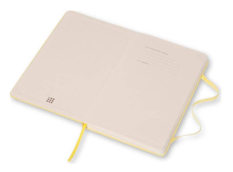 Блокнот Moleskine CLASSIC LARGE 130х210мм 240стр. линейка твердая обложка фиксирующая резинка желтый цитрон - фото 3