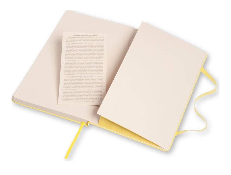 Блокнот Moleskine CLASSIC LARGE 130х210мм 240стр. линейка твердая обложка фиксирующая резинка желтый цитрон - фото 5