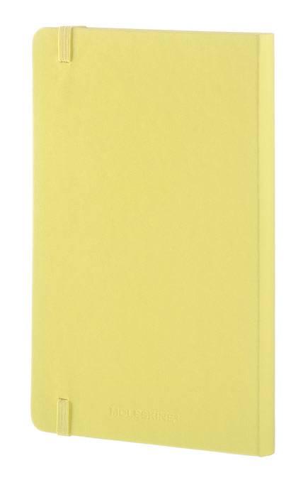 Блокнот Moleskine CLASSIC LARGE 130х210мм 240стр. линейка твердая обложка фиксирующая резинка желтый цитрон - фото 6