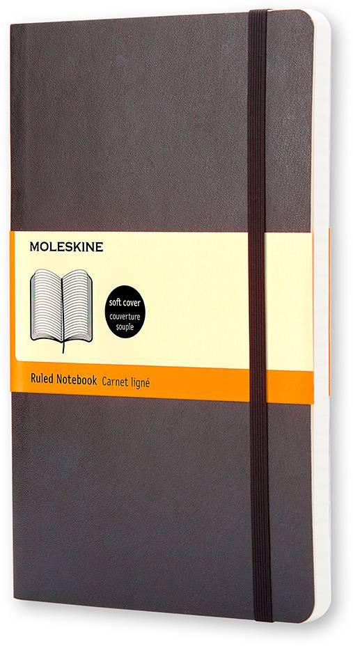 Блокнот Moleskine CLASSIC SOFT 130х210мм 192стр. линейка мягкая обложка фиксирующая резинка черный - фото 1