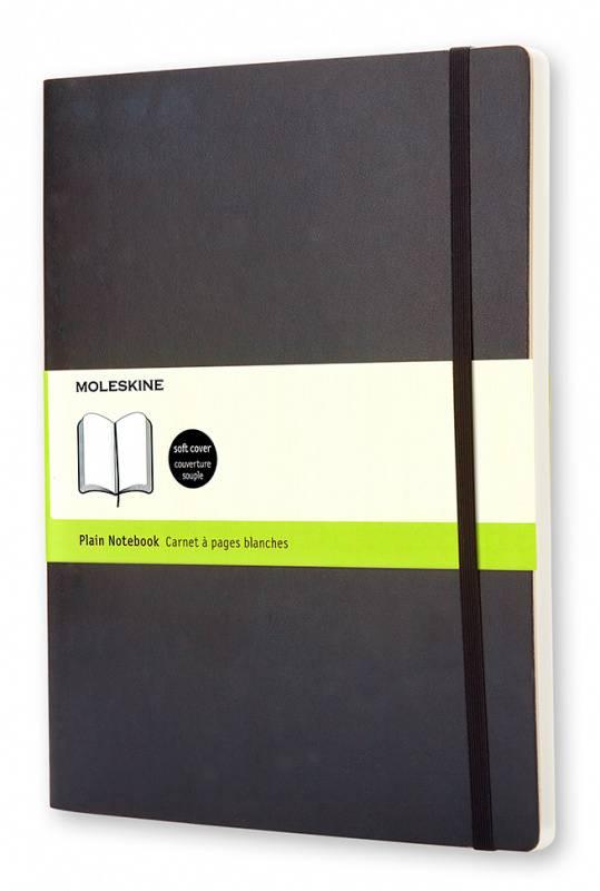 Блокнот Moleskine CLASSIC SOFT 190х250мм 192стр. нелинованный мягкая обложка фиксирующая резинка черный - фото 1
