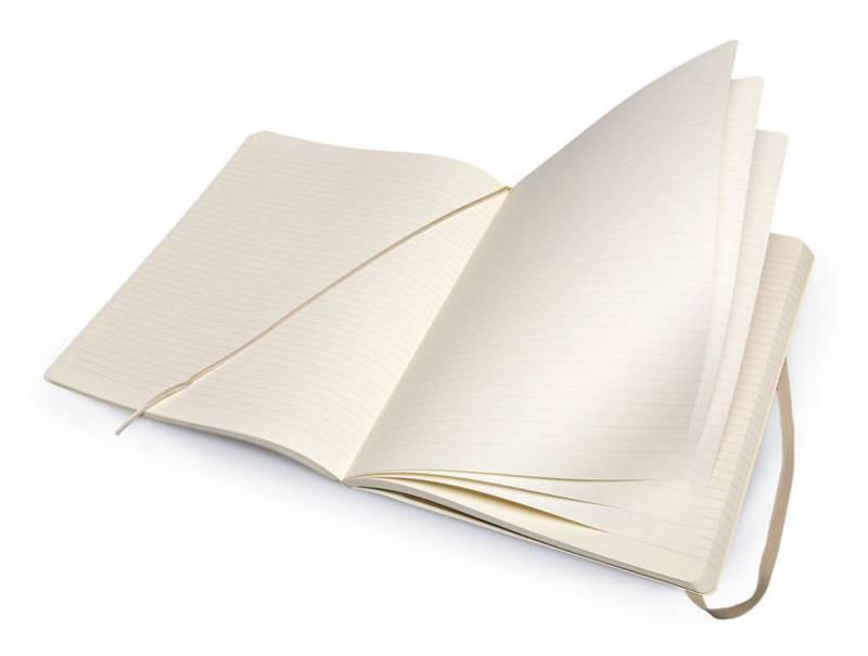 Блокнот Moleskine CLASSIC SOFT 190х250мм 192стр. линейка мягкая обложка фиксирующая резинка бежевый - фото 2