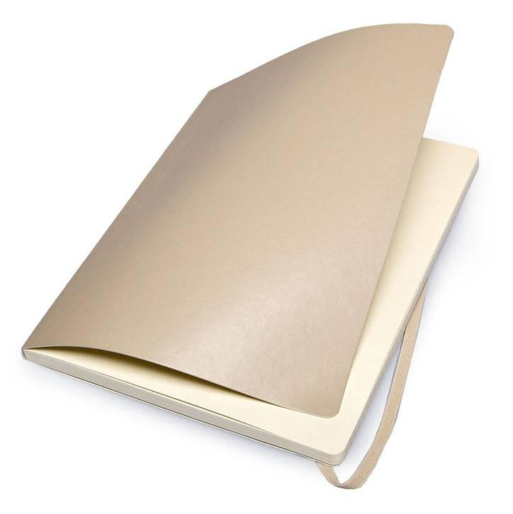 Блокнот Moleskine CLASSIC SOFT 190х250мм 192стр. линейка мягкая обложка фиксирующая резинка бежевый - фото 5