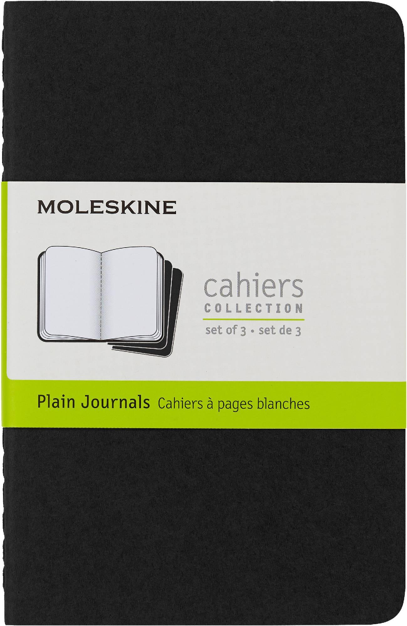 Блокнот Moleskine CAHIER JOURNAL 90x140мм обложка картон 64стр. нелинованный черный (3шт) - фото 1