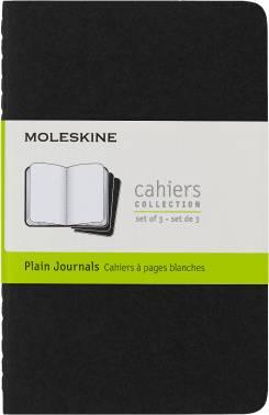 Блокнот Moleskine CAHIER JOURNAL 90x140мм обложка картон 64стр. нелинованный черный (3шт)