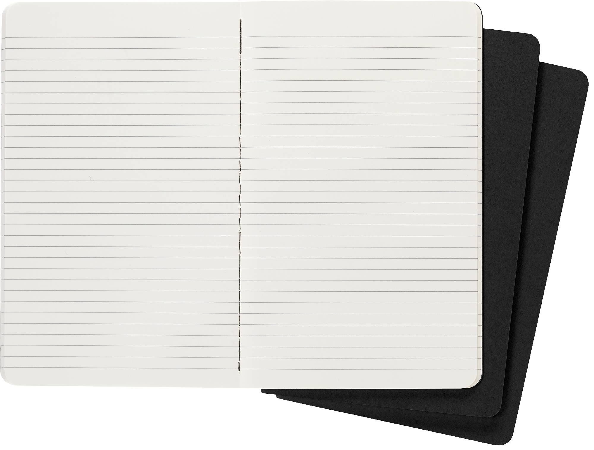 Блокнот Moleskine CAHIER JOURNAL 130х210мм обложка картон 80стр. линейка черный (3шт) - фото 3