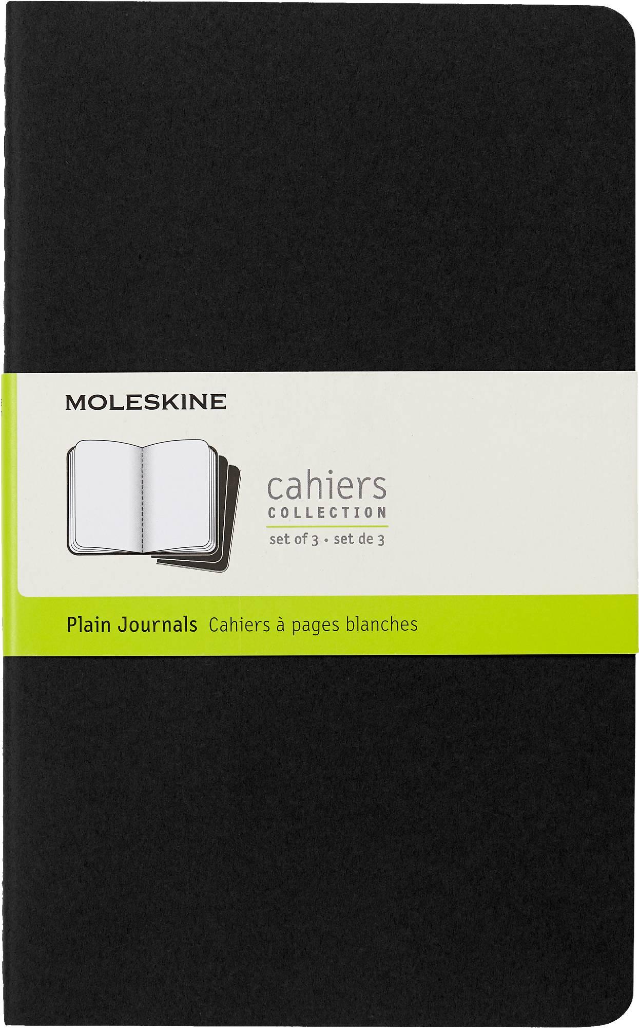 Блокнот Moleskine CAHIER JOURNAL 130х210мм обложка картон 80стр. нелинованный черный (3шт) - фото 1