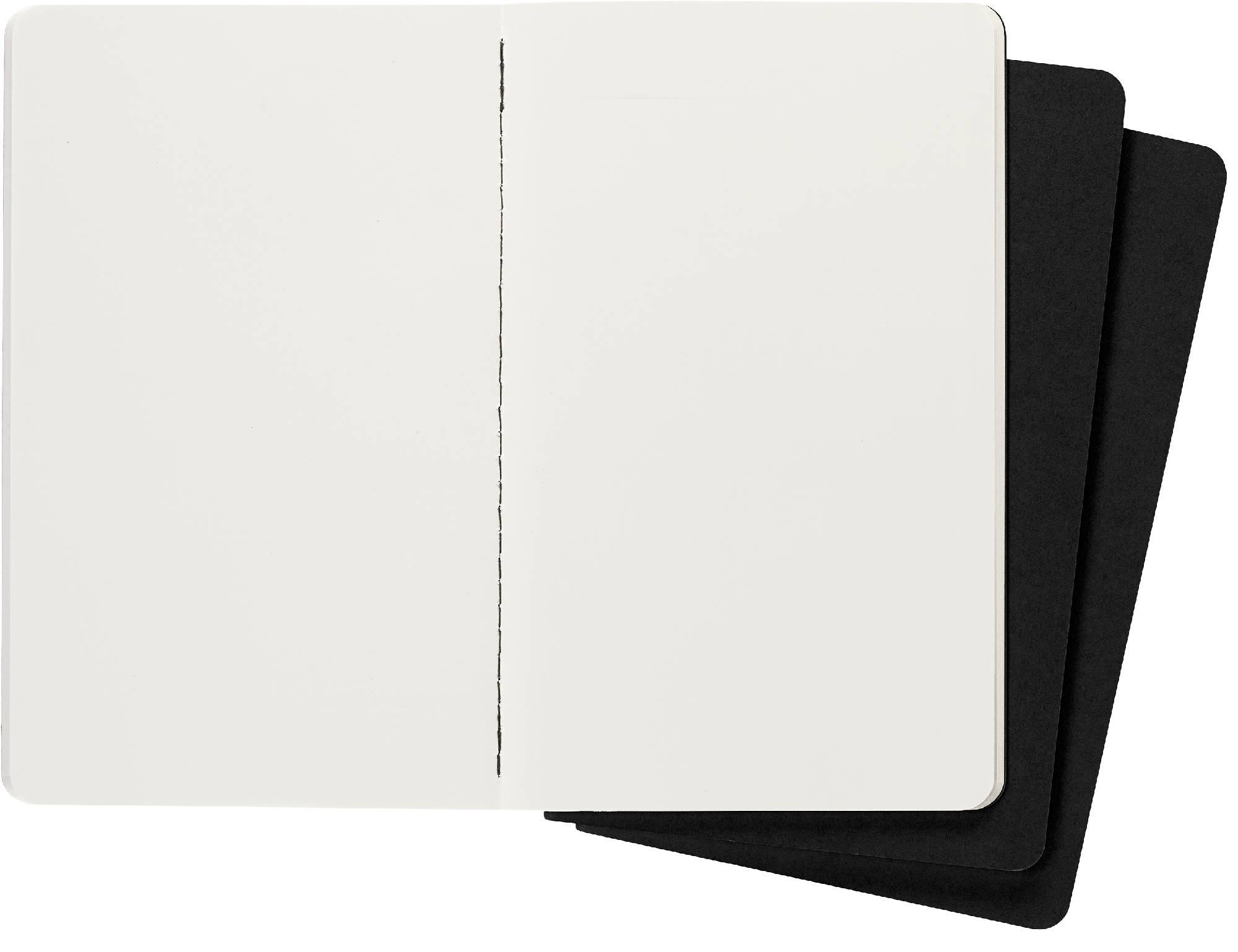 Блокнот Moleskine CAHIER JOURNAL 130х210мм обложка картон 80стр. нелинованный черный (3шт) - фото 3