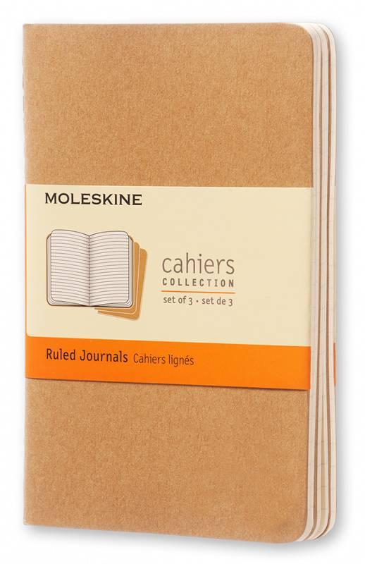 Блокнот Moleskine CAHIER JOURNAL 90x140мм обложка картон 64стр. линейка бежевый (3шт) - фото 1