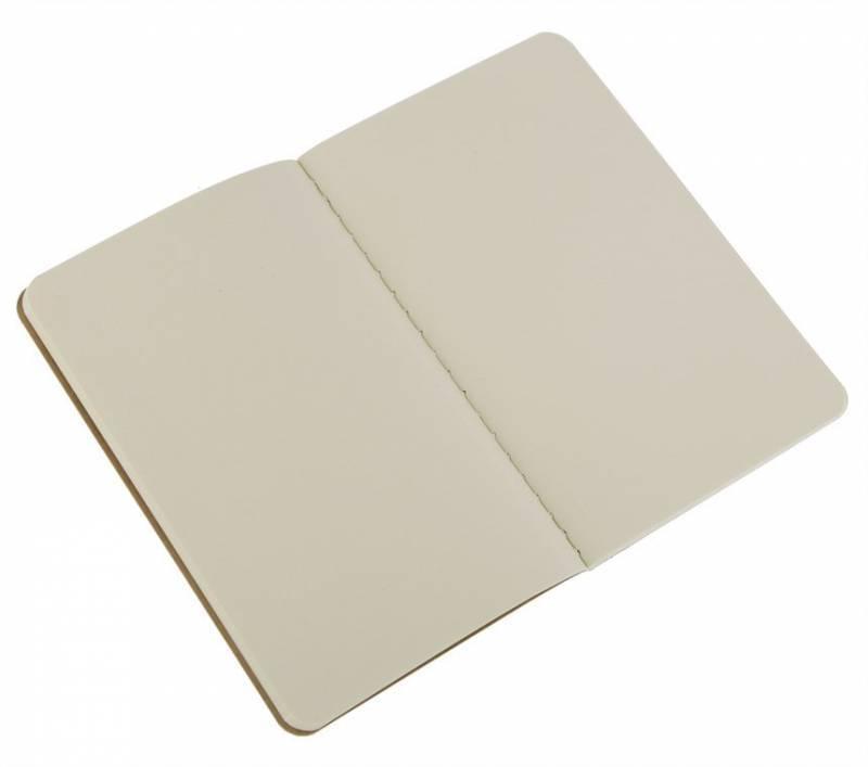 Блокнот Moleskine CAHIER JOURNAL 90x140мм обложка картон 64стр. нелинованный бежевый (3шт) - фото 2