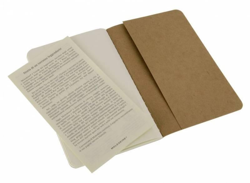 Блокнот Moleskine CAHIER JOURNAL 90x140мм обложка картон 64стр. нелинованный бежевый (3шт) - фото 3