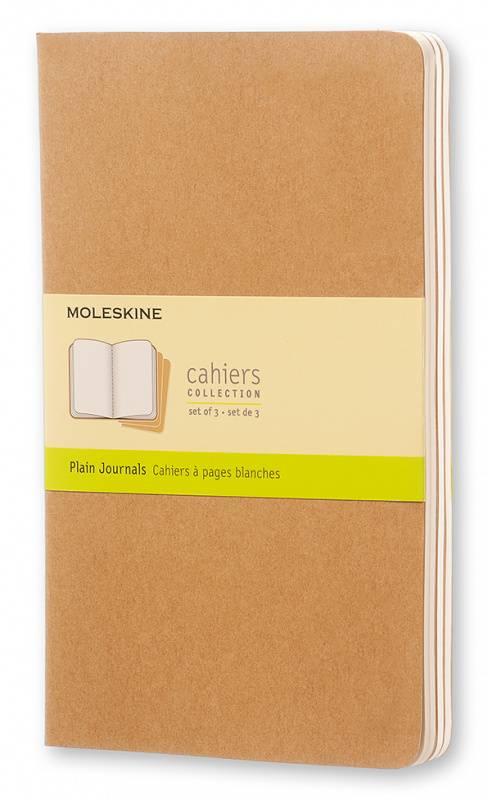 Блокнот Moleskine CAHIER JOURNAL 130х210мм обложка картон 80стр. нелинованный бежевый (3шт) - фото 1