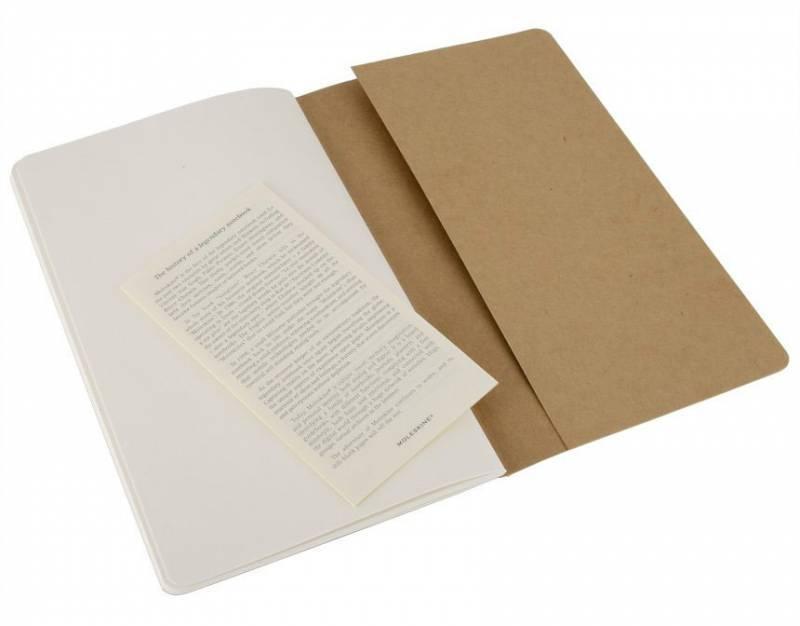 Блокнот Moleskine CAHIER JOURNAL 130х210мм обложка картон 80стр. нелинованный бежевый (3шт) - фото 3