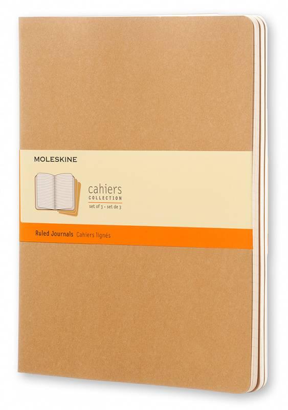 Блокнот Moleskine CAHIER JOURNAL 190х250мм обложка картон 120стр. линейка бежевый (3шт) - фото 1
