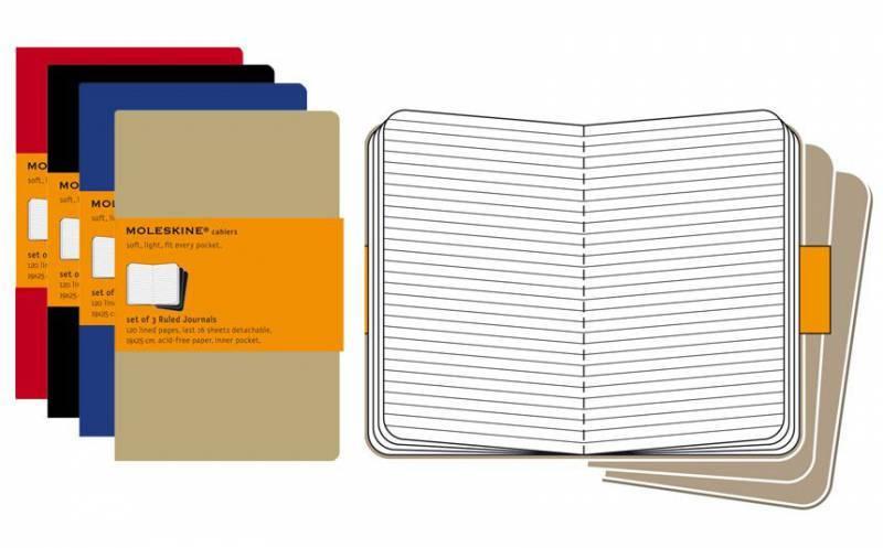 Блокнот Moleskine CAHIER JOURNAL 190х250мм обложка картон 120стр. линейка бежевый (3шт) - фото 2
