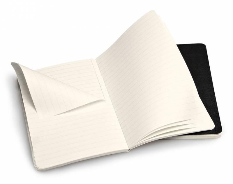 Блокнот Moleskine VOLANT 90x140мм 80стр. линейка мягкая обложка черный (2шт) - фото 2