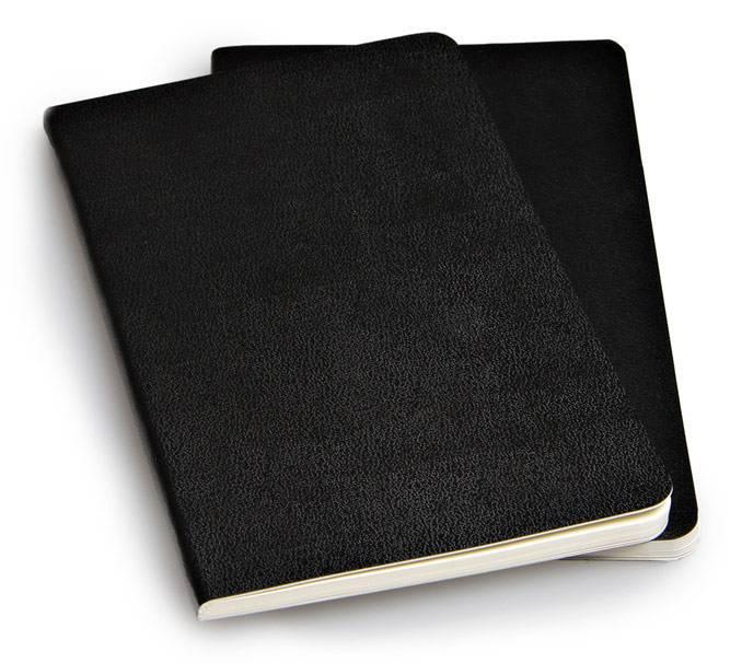 Блокнот Moleskine VOLANT 90x140мм 80стр. линейка мягкая обложка черный (2шт) - фото 4