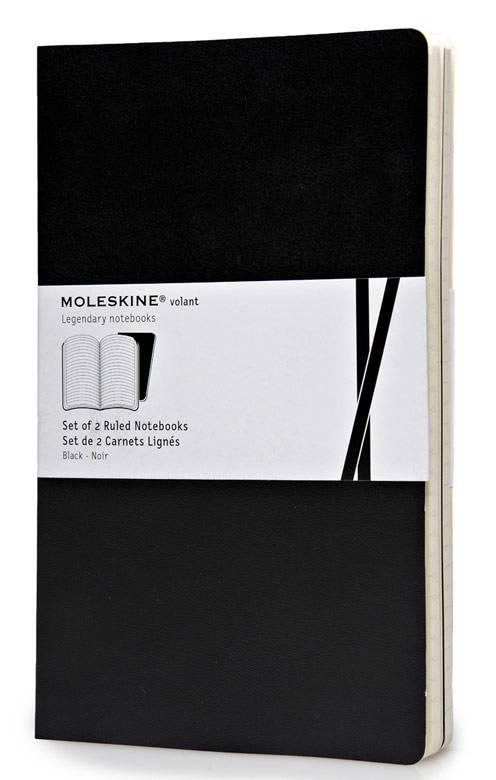 Блокнот Moleskine VOLANT 130х210мм 96стр. линейка мягкая обложка черный (2шт) - фото 1