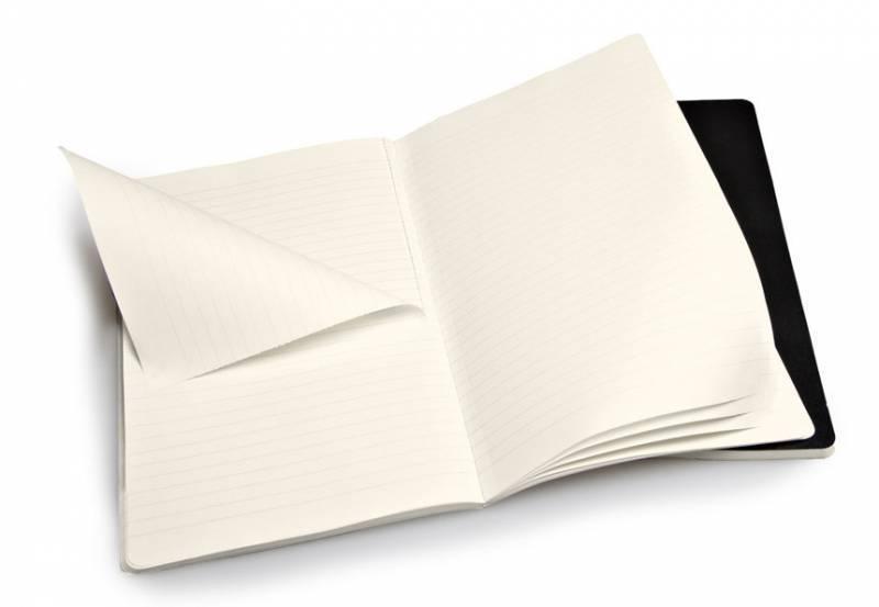 Блокнот Moleskine VOLANT 130х210мм 96стр. линейка мягкая обложка черный (2шт) - фото 2