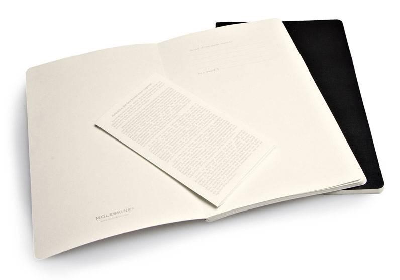 Блокнот Moleskine VOLANT 130х210мм 96стр. линейка мягкая обложка черный (2шт) - фото 3