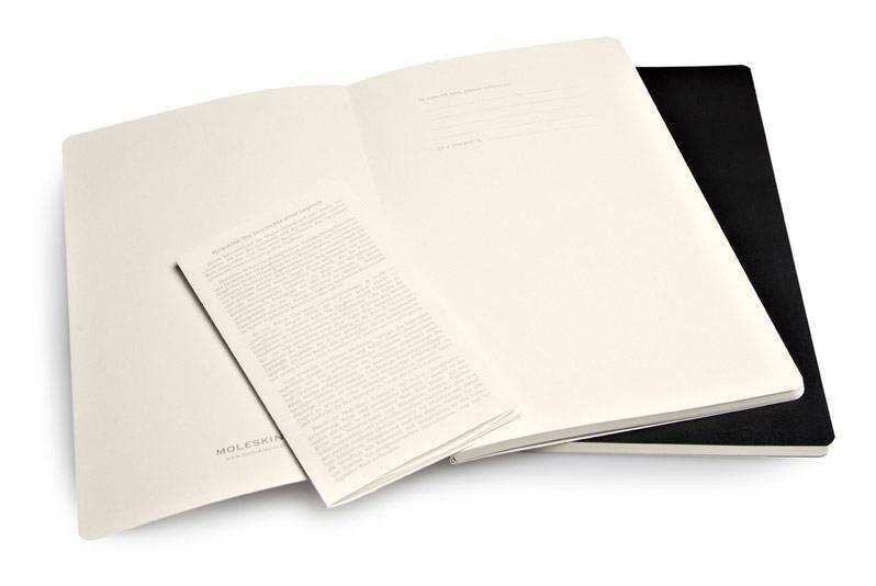 Блокнот Moleskine VOLANT 130х210мм 96стр. нелинованный мягкая обложка черный (2шт) - фото 3